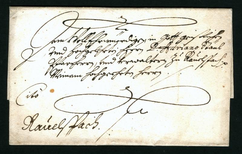 Vorphilatelie Österreich  -   Briefe aus der Vormarkenzeit Voorph10