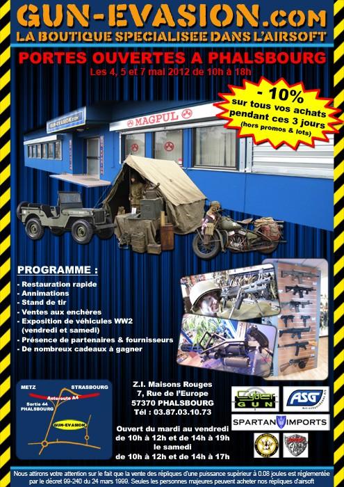 Portes ouvertes Gun-Evasion Phalsbourg Affich11