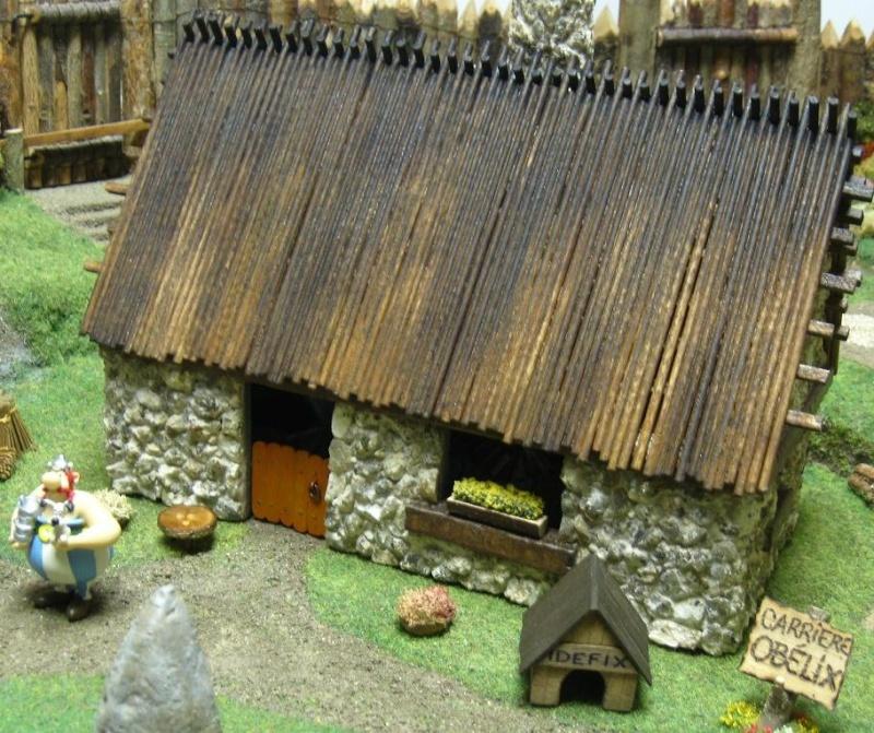 Le Village d'Astérix le Gaulois en maquette au 1/40 Obelix10