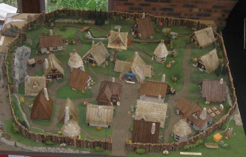 Le Village d'Astérix le Gaulois en maquette au 1/40 Villag12
