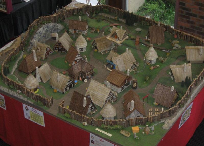 Le Village d'Astérix le Gaulois en maquette au 1/40 Villag13