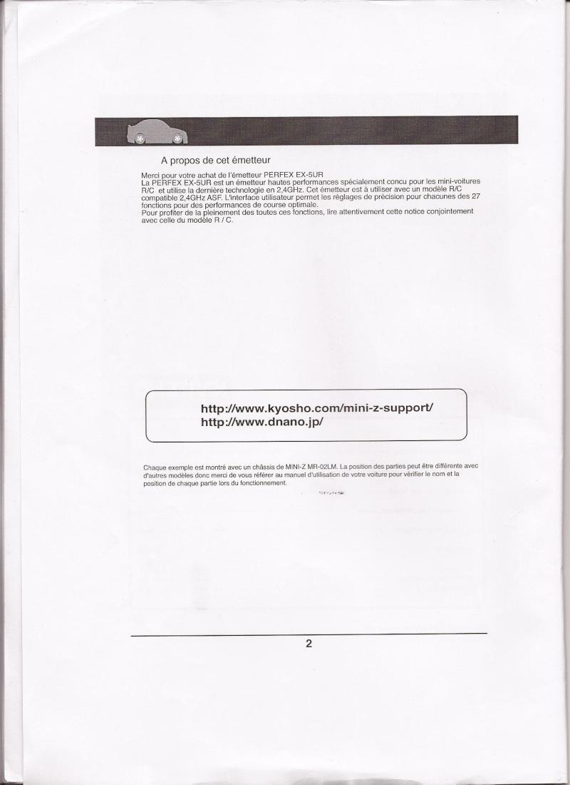 Notice de la EX-5UR ASF 2.4 Ghz Scan0011