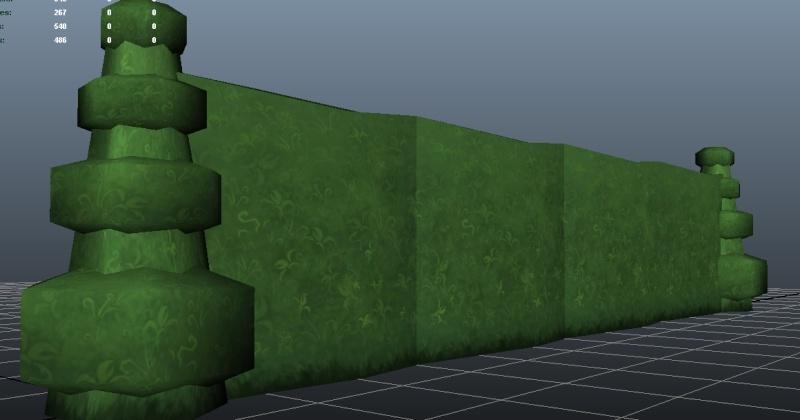 Hedge and Hedge End Cap Models Hedge-10