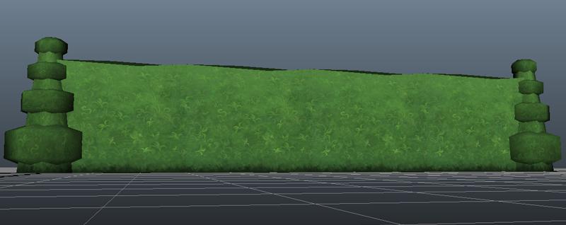 Hedge and Hedge End Cap Models Hedge-12