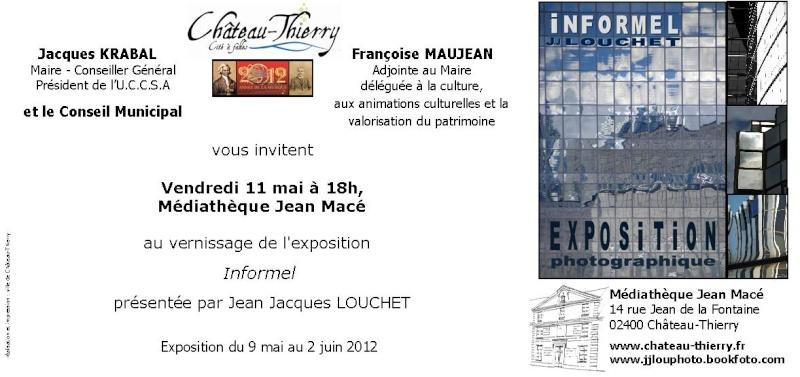 """Exposition de photographies """"informel"""" par Jean Jacques Louchet Invit_10"""