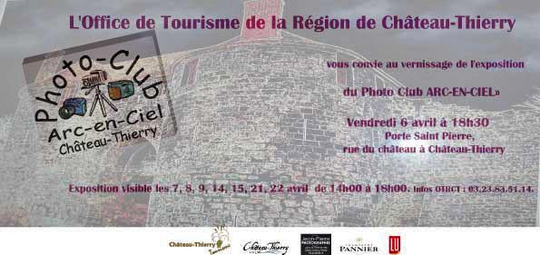 Exposition du Photo Club Arc en Ciel le 6 avril à 18h30 à Château Thierry Invita10