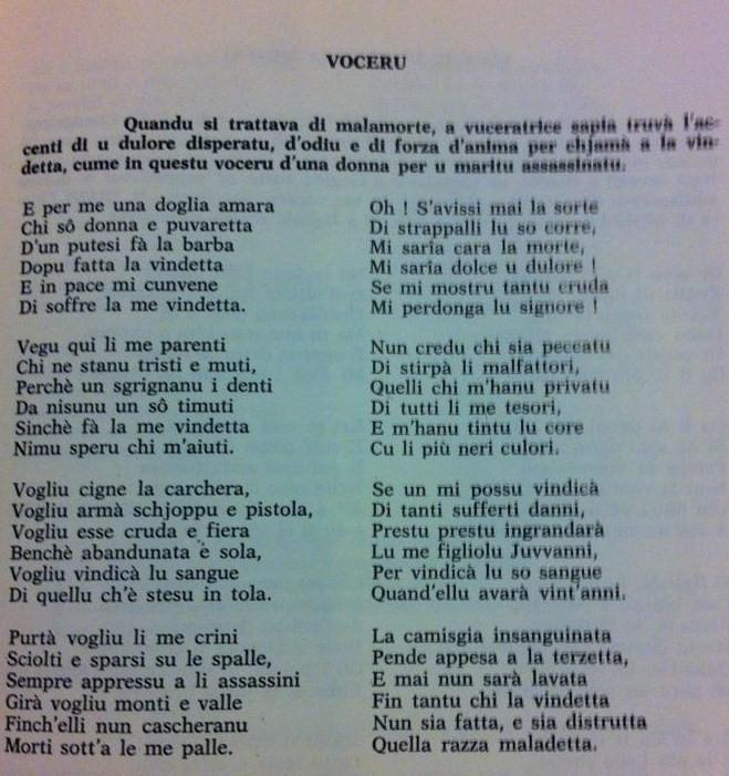 Voceri è Lamenti tradiziunali Voceru11