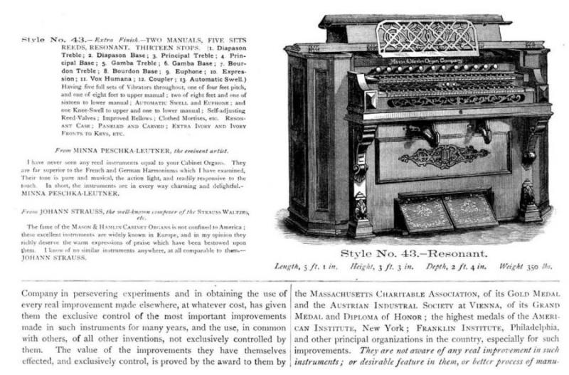 Harmonium Mason & Hamlin Mhcat110