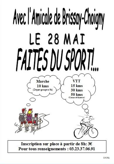 Faites du sport à Brissay Choigny le 28 mai 2012 Affich11