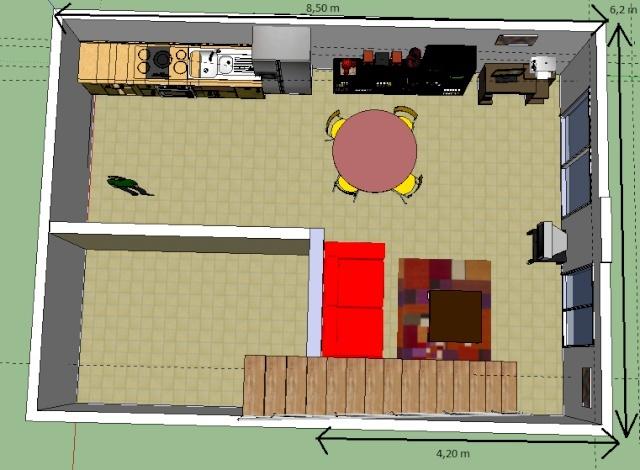 Besoin d 39 aide disposition meubles salon salle manger - Conseils sur la disposition des meubles pour agrandir un salon ...