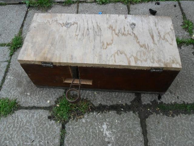 Fabrication d'une boite avec piège x destinée a la régulation d'une fouine Boite_21