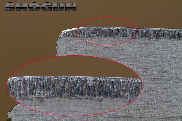 """Comparaison du """"FIL"""" des lames en photos Shogun10"""