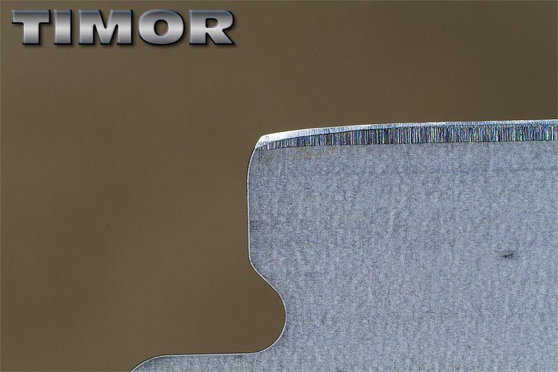 """Comparaison du """"FIL"""" des lames en photos Timor10"""