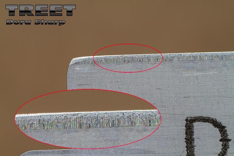 """Comparaison du """"FIL"""" des lames en photos Treet-11"""