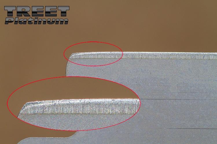 """Comparaison du """"FIL"""" des lames en photos Treet-12"""