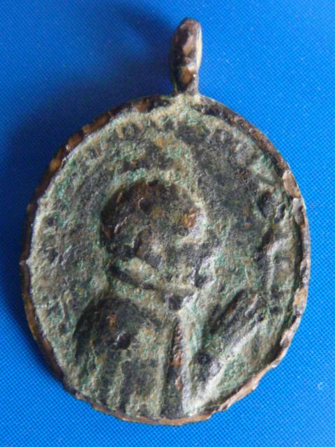 Médaille jésuite - St-François-Xavier & (probablement) St-Ignace-de-Loyola P1100017