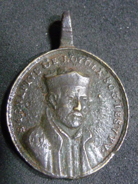Médaille jésuite - St-François-Xavier & St-Ignace-de-Loyola - XVIIIème P1110611