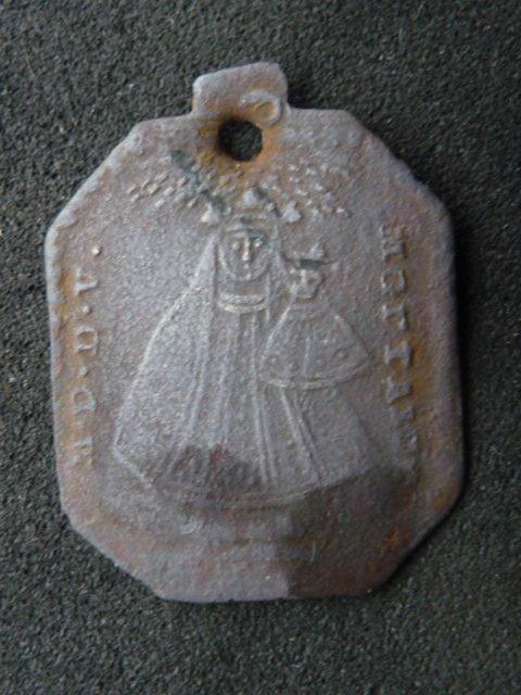**RARE** Médaille tôle de cuivre St-Hubert - début XVIIIème P1110617