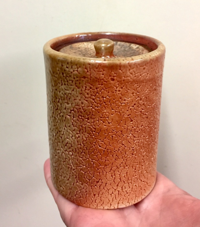 Shino lidded pot, COOK?  04a8da10