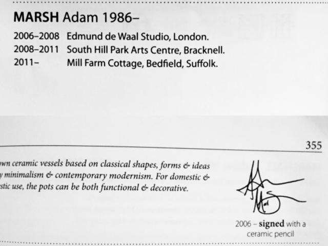 Signed porcelain celadon beaker or teabowl  1bc2a610