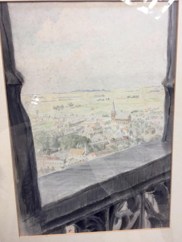 Watercolour, St Pierre, 1930 - signature?  40d4a510