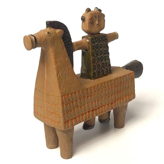 Horseman naive sculpture 643b3e10
