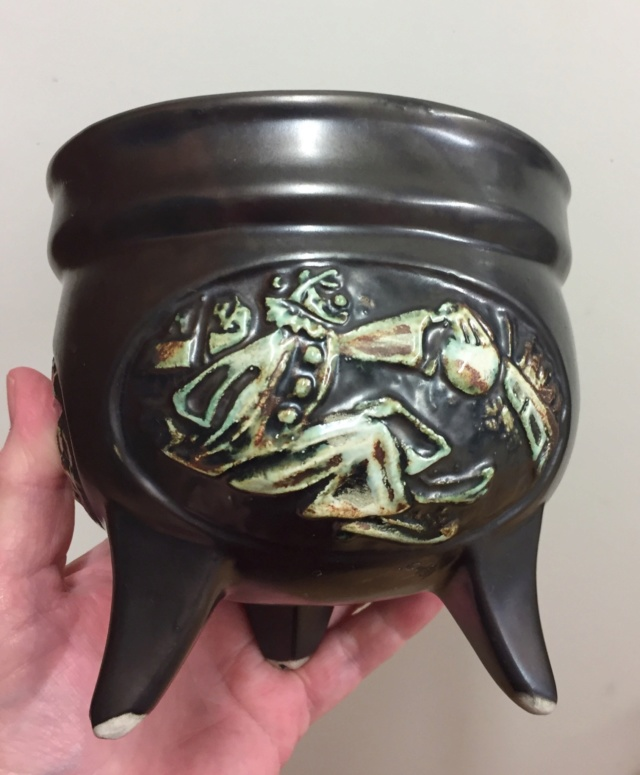Unmarked vase with dancing figures; not Czech - Made in Ireland  67a7c310