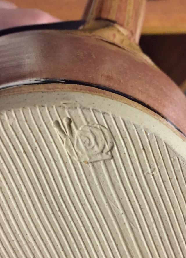 Jug with snail mark - Jacqui Ramrayka? - probably Oz Street Pottery  6ce55510
