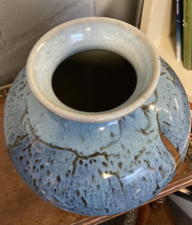 Blue vase with mystery signature  9da45610