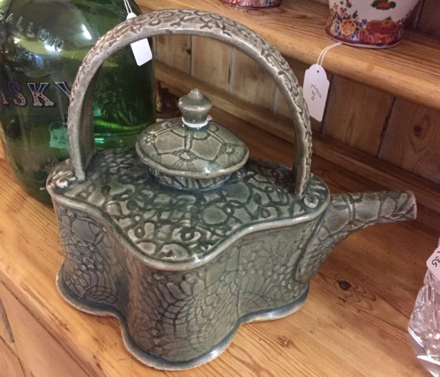 Big slab built teapot  9ea61110