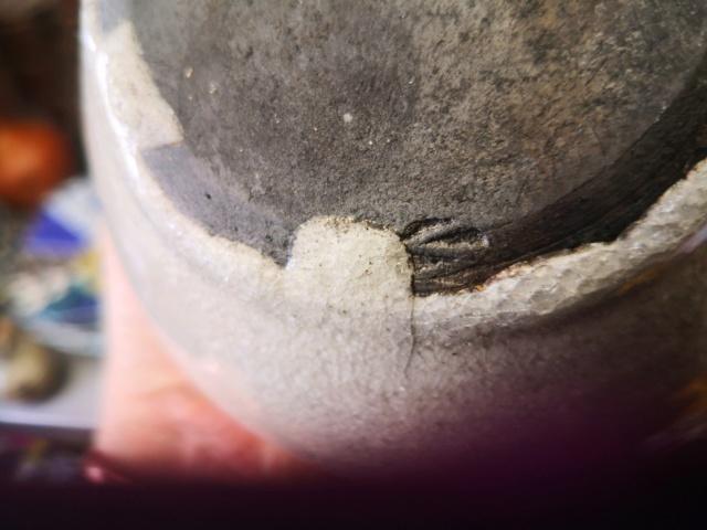 White and grey crackle glaze vase Aaf3fc10