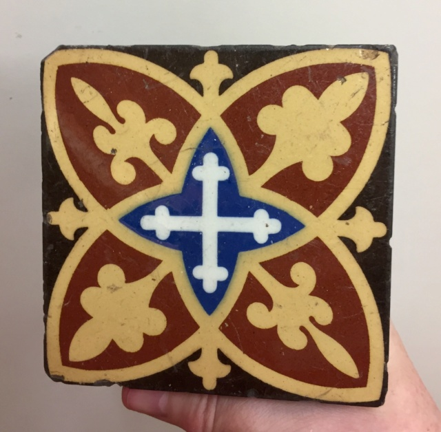 19thC Encaustic tile by William Godwin, Lugwardine Hereford  Ad6bad10