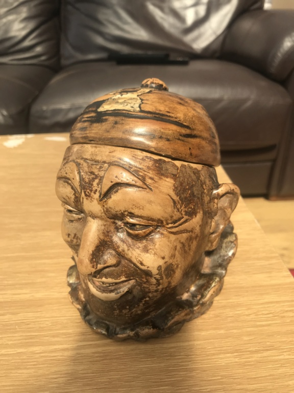 Old tobacco pot head & cap B32c1710