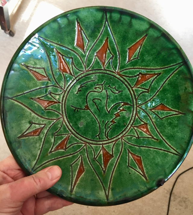 Green glazed plate. Gongora, Ubeda, Spain  Bcfef710