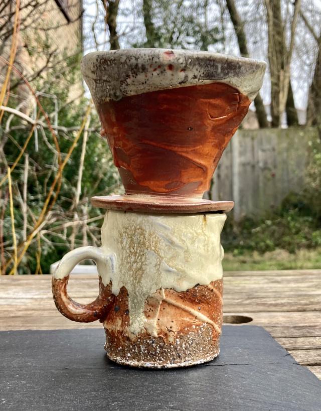 Wood fired pottery, WC mark - Wayne Clark C3f38d10