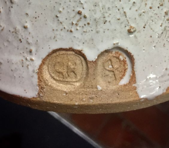 Casserole pot and lid,  marked Nolan CP? Gnolan10