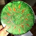 Green glazed plate. Gongora, Ubeda, Spain  10364810