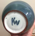 Vase with KW mark - Looe Pottery?? 642bee10