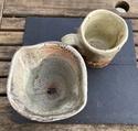 Wood fired pottery, WC mark - Wayne Clark 71889f10