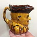 Slipware jester/Mr Punch Toby Jug  88673a10