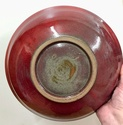 Flambé glazed bowl signed PBS mark - maybe Peter Smith, NZ  A4d16210