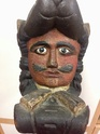 Carved wooden bust finial  B342dc10