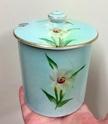 Vintage jam jar with daffodils  E5a95810