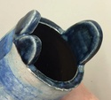 Blue raku vase - Possibly Jill Holland?  Jmiddl14