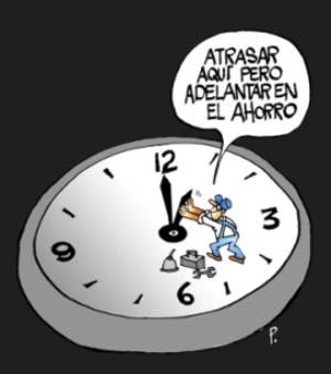 Orario normale a partire di domenica Reloje10