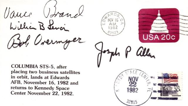 STS-5 Columbia - 11 au 16 novembre 1982 - Première mission navette opérationnelle 1982_110