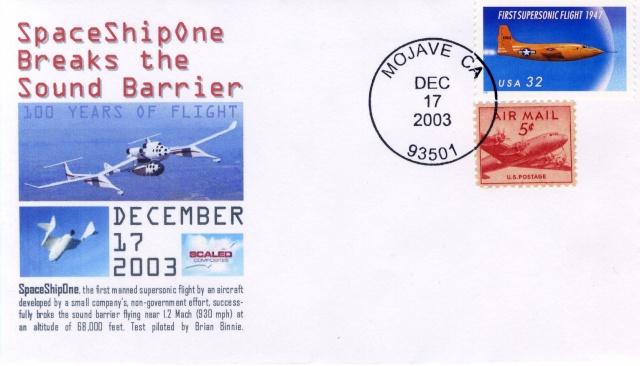 L'épopée de SpaceShipOne en astrophilatélie 2003_110