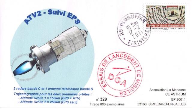 Enveloppe ayant voyagé à bord de l'ATV-2 Johannes Kepler, de l'ISS et de la navette Atlantis / STS-135  2011_012