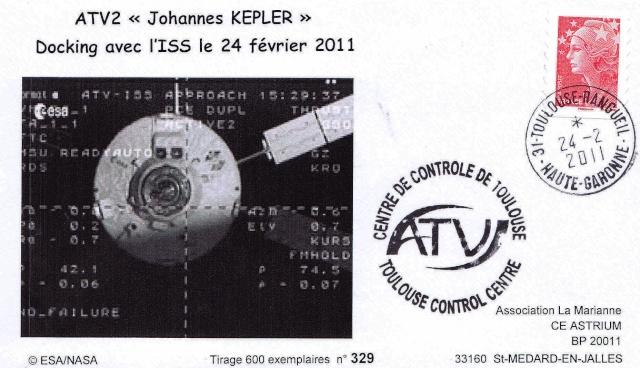 Enveloppe ayant voyagé à bord de l'ATV-2 Johannes Kepler, de l'ISS et de la navette Atlantis / STS-135  2011_013