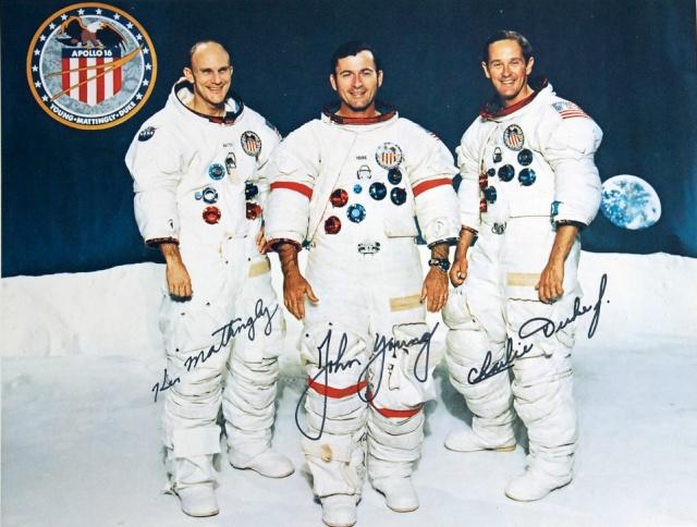 Autopen - Equipage Apollo 16 (Mattingly - Young - Duke) Apollo13